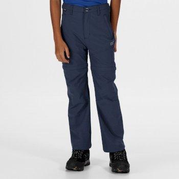 Hikefell Stretch Zip Off-Hose für Kinder Blau
