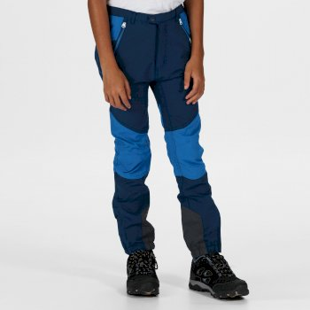 Tech Mountain Stretch-Wanderhose für Kinder Blau
