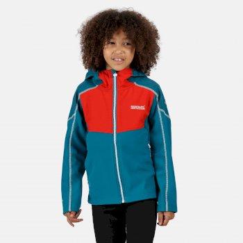 Acidity IV reflektierende Softshell-Jacke mit Kapuze für Kinder Blau