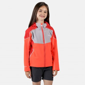Acidity IV reflektierende Softshell-Jacke mit Kapuze für Kinder Orange