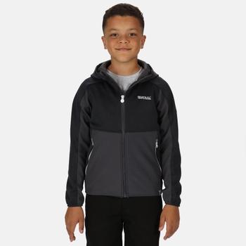 Bracknell II Softshell-Walkingjacke mit Kapuze für Kinder Grau