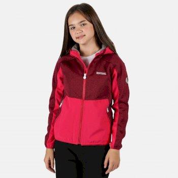 Bracknell II Softshell-Walkingjacke mit Kapuze für Kinder Rosa