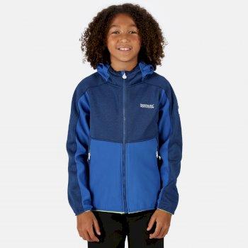 Bracknell II Softshell-Jacke mit Kapuze für Kinder Blau