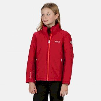 Rivendale II Softshell-Walkingjacke mit durchgehendem Reißverschluss für Kinder Rosa