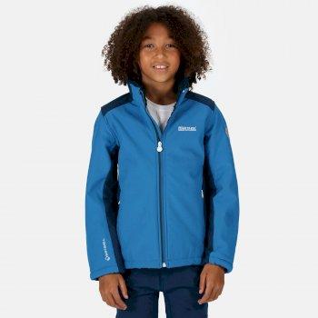 Rivendale II Softshell-Walkingjacke mit durchgehendem Reißverschluss für Kinder Blau