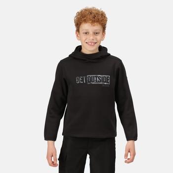 Highton Extol bedruckter Hoodie für Kinder Schwarz