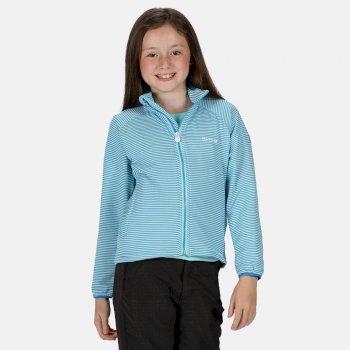 Highton Lite Strech-Softshell-Midlayer mit durchgehendem Reißverschluss für Kinder Blau