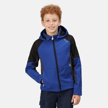 Eastcott Softshell-Wanderjacke mit Kapuze für Kinder Blau