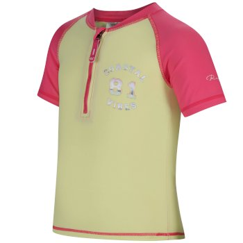 Regatta Kids Wader Swimwear Set Hot Pink Lime Fizz