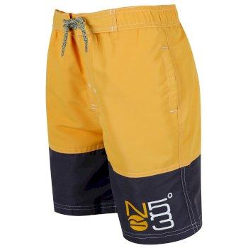 Shaul Schwimmshorts für Kinder gelb-schwarz
