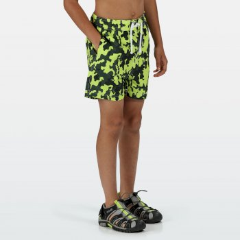 Regatta Kids' Skander II Swim Shorts - Racing Green Camo