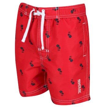 Skander II Schwimmshorts für Kinder Rot