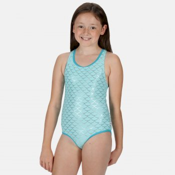 Regatta Kids' Tanvi Swimming Costume - Aruba Blue Mermaid