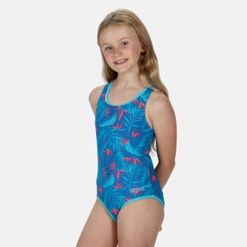 Regatta Kids' Tanvi Swimming Costume - Victoria Blue
