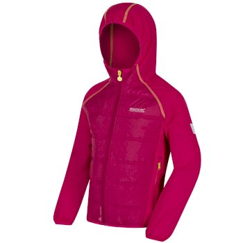 Kids Kielder Hybrid II Lightweight Insulated Jacket Dark Cerise