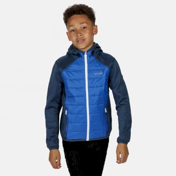 Regatta Kids' Kielder IV Lightweight Hooded Hybrid Jacket - Dark Denim Nautical Blue