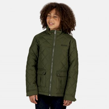Regatta Kids' Zion Quilted Insulated Jacket - Racing Green