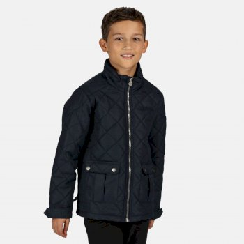 Regatta Kids' Zion Quilted Insulated Jacket - Navy