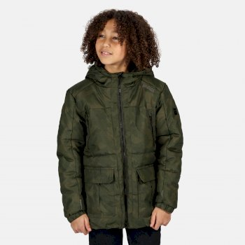 Perico isolierte Jacke mit Kapuze für Kinder Grün
