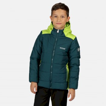 Lofthouse IV isolierte, robuste Walkingjacke mit Kapuze für Kinder Grün
