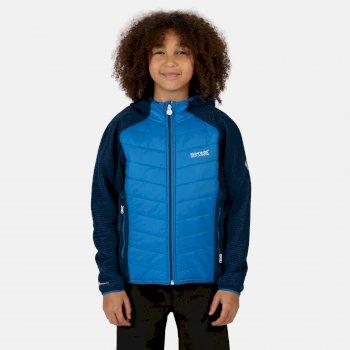 Regatta Kids' Kielder IV Lightweight Hooded Hybrid Walking Jacket - Nautical Blue Dark Denim