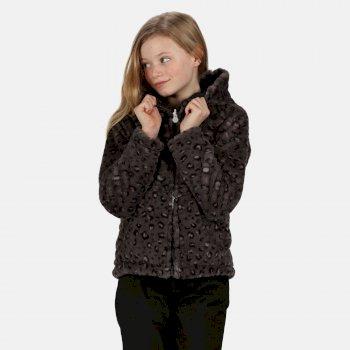 Spyra leichte, isolierte Walkingjacke mit Kapuze für Kinder Schwarz