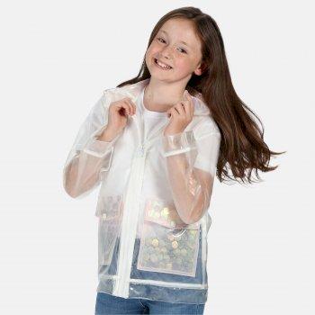 Hallow Wasserdichte, durchsichtige Jacke mit Kapuze für Kinder Transparent