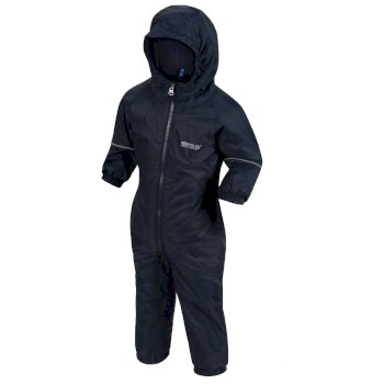 Regatta Kids Splosh III Plain Breathable Waterproof Puddle Suit Navy