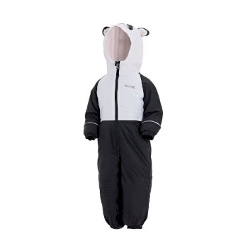 Regatta Kids' Mudplay III Breathable Waterproof Puddle Suit - White