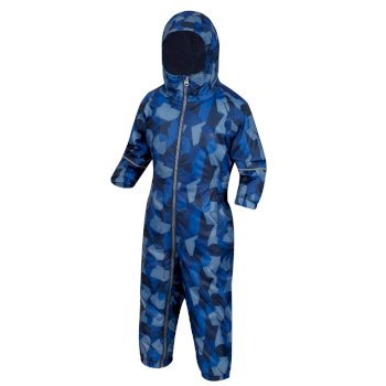Kids' Printed Splat II Rainsuit Navy Camo
