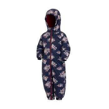 Regatta Kids' Printed Splat II Puddle Suit - Navy Floral