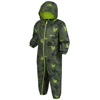 Splat II bedruckter Matschanzug für Kinder Grün