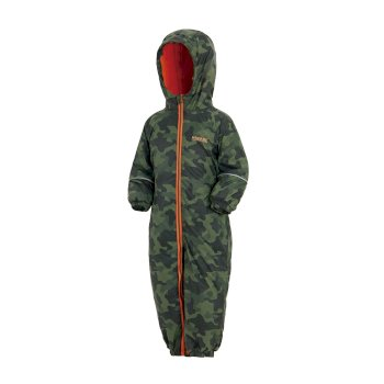 Regatta Kids' Printed Splat II Puddle Suit - Cypress Camo