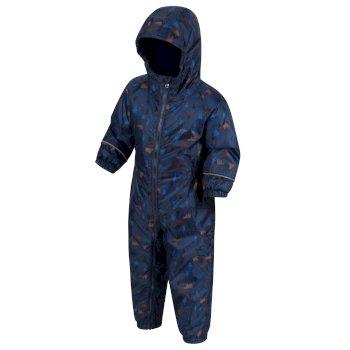 Splat II bedruckter Matschanzug für Kinder Dark Denim