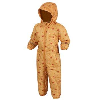Splat II bedruckter Matschanzug für Kinder Mineral Yellow