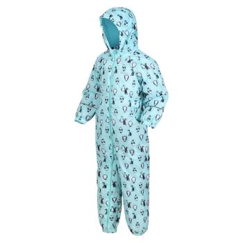 Splat II bedruckter Matschanzug für Kinder Blau