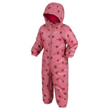 Splat II bedruckter Matschanzug für Kinder Rosa