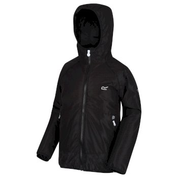 Regatta Kids' Volcanics III Waterproof Reflective Softshell Jacket - Black