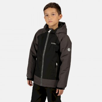 Regatta Kids' Hurdle III Waterproof Insulated Jacket - Black Magnet
