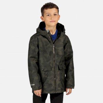 Sarkis wasserdichte, isolierte Jacke mit Kapuze für Kinder Grün