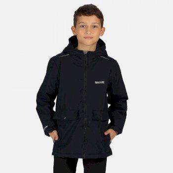 Sarkis wasserdichte, isolierte Jacke mit Kapuze für Kinder Blau