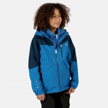 Hydrate V reflektierende 3-in-1-Walkingjacke mit Kapuze für Kinder Blau