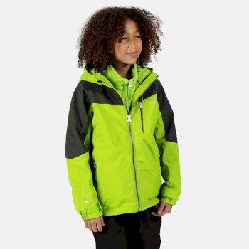Hydrate V reflektierende 3-in-1-Walkingjacke mit Kapuze für Kinder Gelb