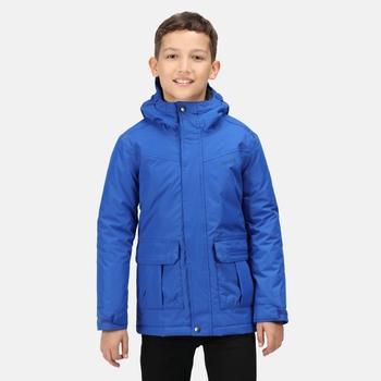 Bardron wasserdichte und isolierte Jacke mit Kapuze für Kinder Blau