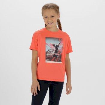 Regatta Alvarado III  Quick Dry Polyester T Shirt Neon Peach