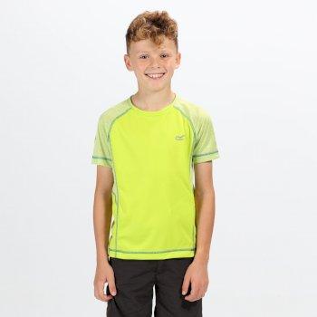 Dazzler II T-Shirt mit Reflektoren für Kinder limone