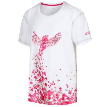 Regatta Kids' Alvarado IV Graphic Print T-Shirt White