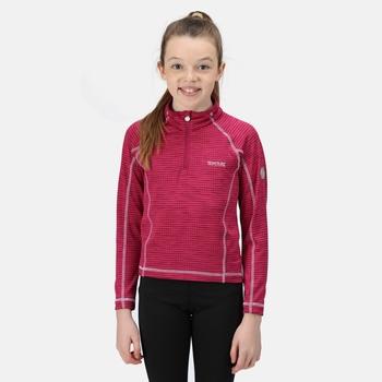 Berley langärmeliges Shirt mit halblangem Reißverschluss für Kinder Rosa