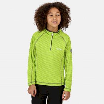 Berley langärmeliges Shirt mit halblangem Reißverschluss für Kinder Gelb