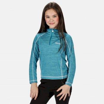 Berley langärmeliges Shirt mit halblangem Reißverschluss für Kinder Blau